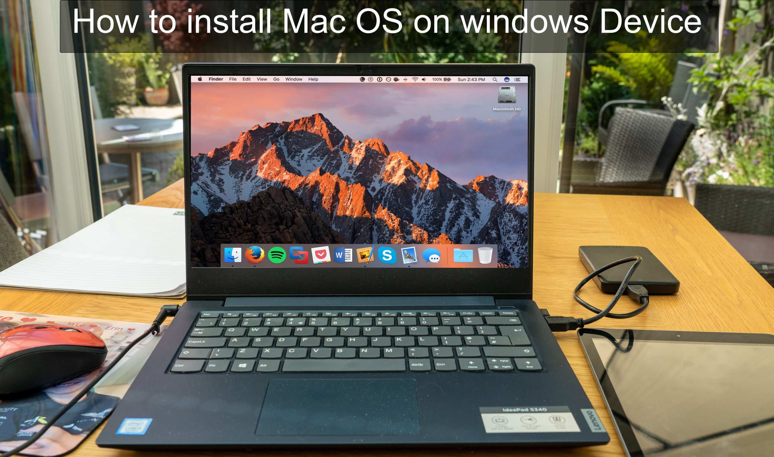 How to install Mac OS on Windows
