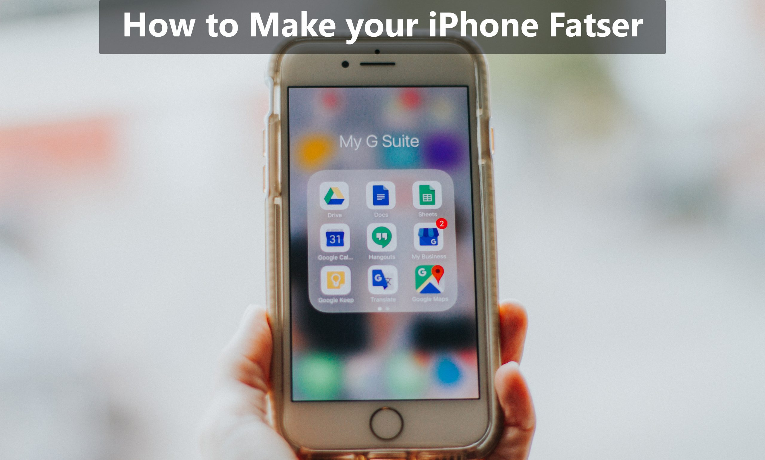 How to make your iPhone faster